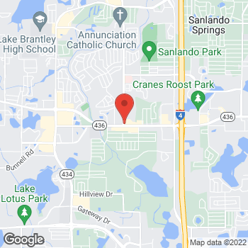 Map of Taco Bell at 495 W State Rd 436, Altamonte Springs, FL 32714