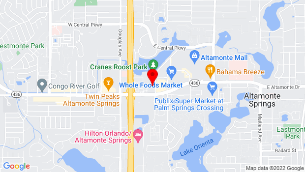 Google Map of 150 Cranes Roost Blvd, Suite 2200, Altamonte Springs, FL 32701