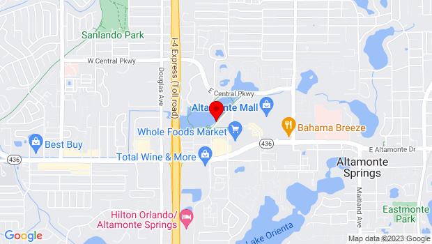 Google Map of 274 Cranes Roost Blvd, Altamonte Springs, FL 32701