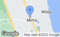 Map of Mims, FL