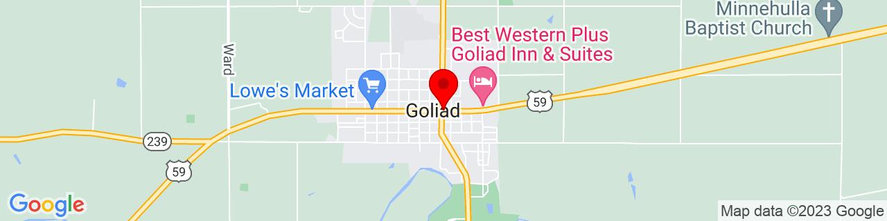 Google Map of 28.6683252, -97.38832649999999