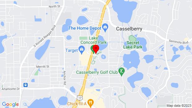 Google Map of 95 Triplet Lake Drive, Casselberry, FL 32707