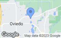 Map of Oviedo, FL