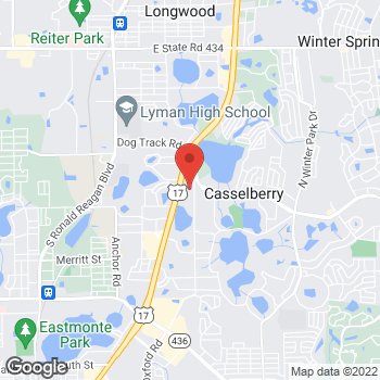 Map of Hair Cuttery at 3385 S Us Highway 17/92, Casselbery, FL 32707