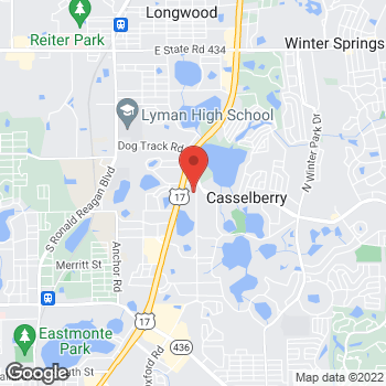 Map of Hair Cuttery at 3385 S US Hwy 17 92, Casselberry, FL 32707