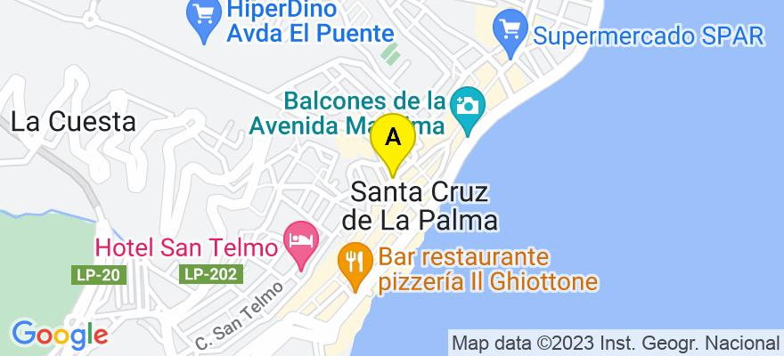 situacion en el mapa de . Direccion: C/ Pino de la Virgen, 7-B, Puntagorda, 38789 Santa Cruz de la Palma. Santa Cruz de Tenerife