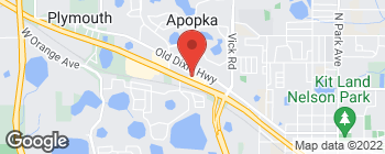 Map of 1089 W Orange Blossom Trail in Apopka