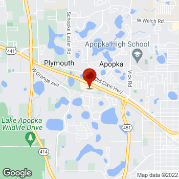 Map of Staples® Print & Marketing Services at 1626 West Orange Blossom Trail, Apopka, FL 32712