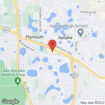 Map of Staples at 1626 West Orange Blossom Trail, Apopka, FL 32712