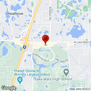 Map of Staples® Print & Marketing Services at 4215 Lake Mary Blvd., Lake Mary, FL 32746