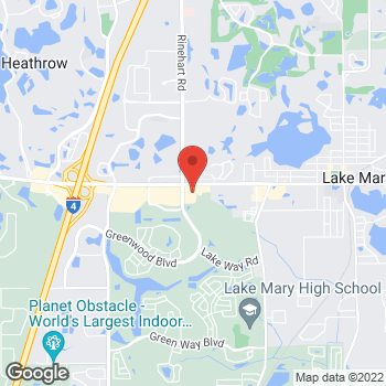 Map of Hair Cuttery at 3801 W Lake Mary Blvd, Lake Mary, FL 32746