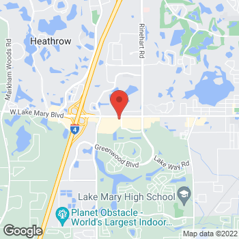 Map of Noodles & Company at 850 South Sun Drive, Lake Mary, FL 32746
