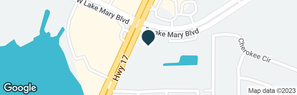 Google Map of3803 S ORLANDO DR