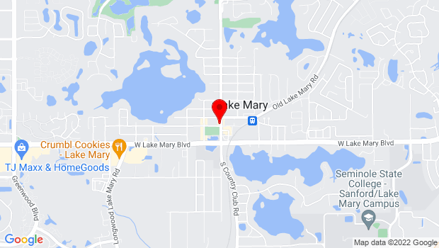 Google Map of 158 N Country Club Rd. , Lake Mary, FL 32746