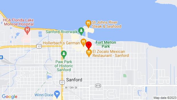 Google Map of 202 S. Sanford Ave., Sanford, FL 32771