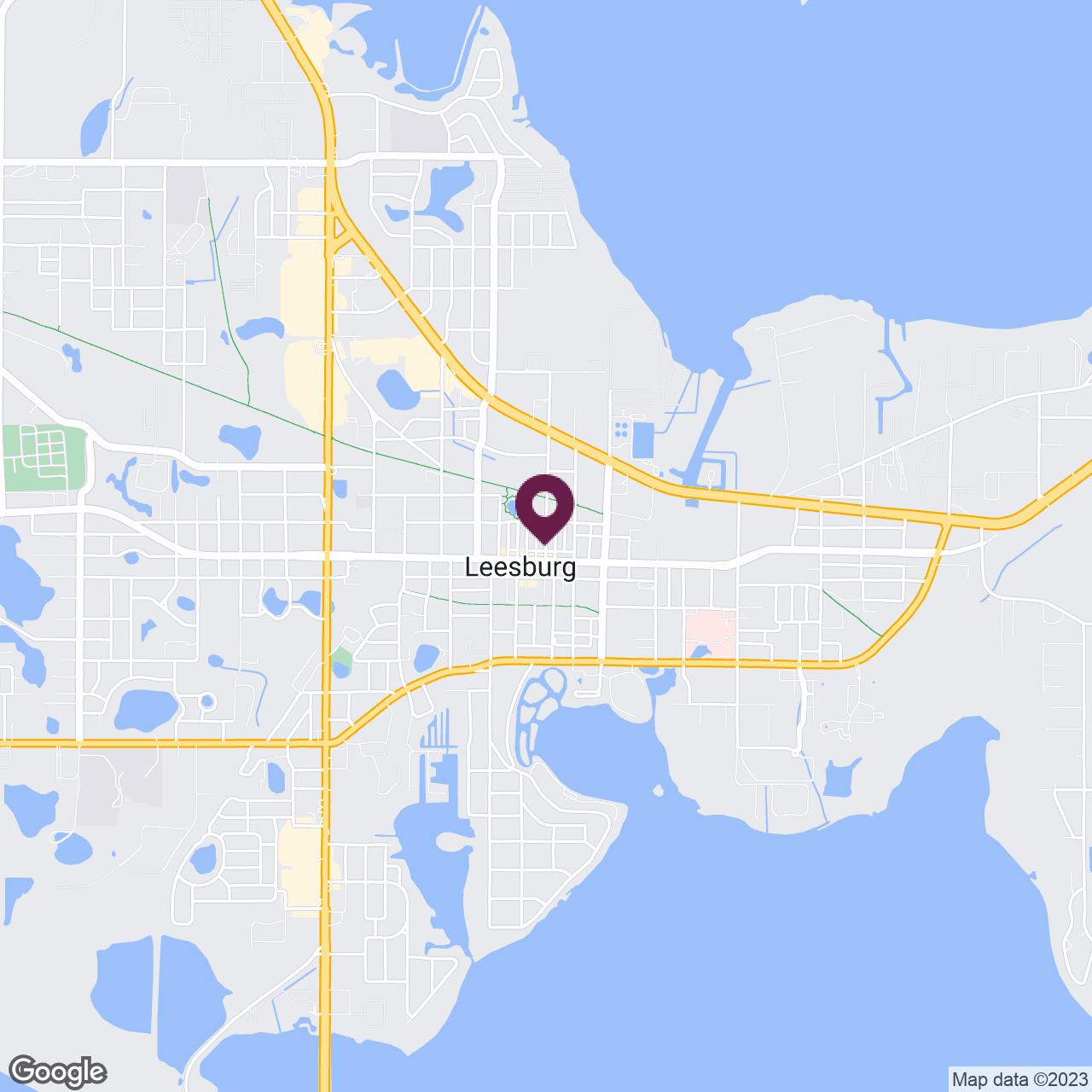 Google Maps static image of The Villages, Leesburg, Tavares, Eustis