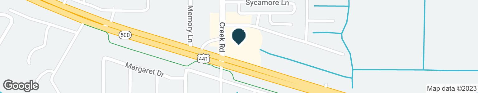 Google Map of11101 US HIGHWAY 441