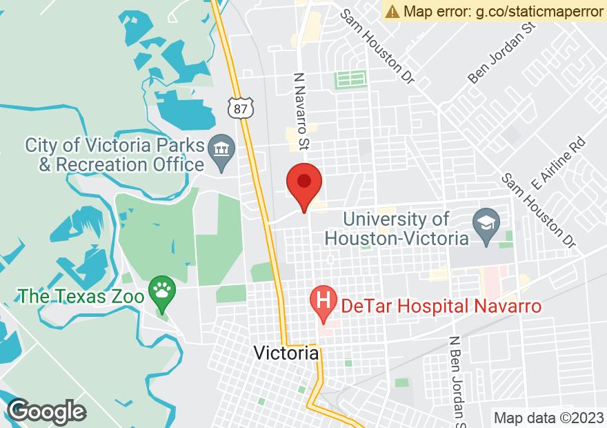 Google Map of 2701 N NAVARRO ST