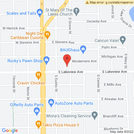 Ear Nose & Throat Associates of Lake County PA on Map (1140 S Grove St, Eustis, FL 32726) Map