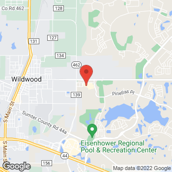 Map of Hair Cuttery at 2526 Burnsed Boulevard, The Villages, FL 32163