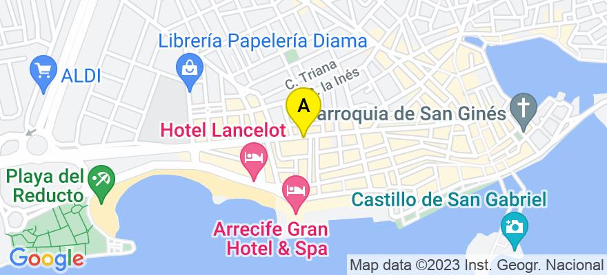 situacion en el mapa de . Direccion: José Antonio 77 3º 7, 35500 Arrecife. Las Palmas