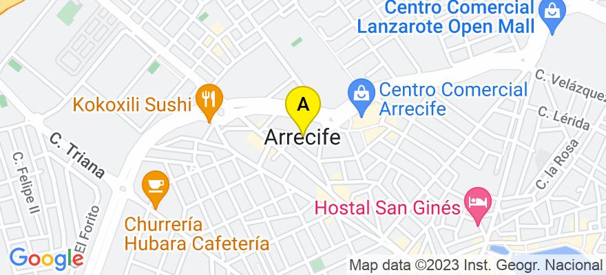 situacion en el mapa de . Direccion: Otilia Diaz 12B, 1ºC, 35500 Arrecife. Las Palmas