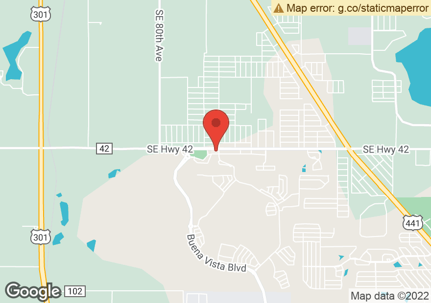 Google Map of 8591 SE 165TH MULBERRY LN