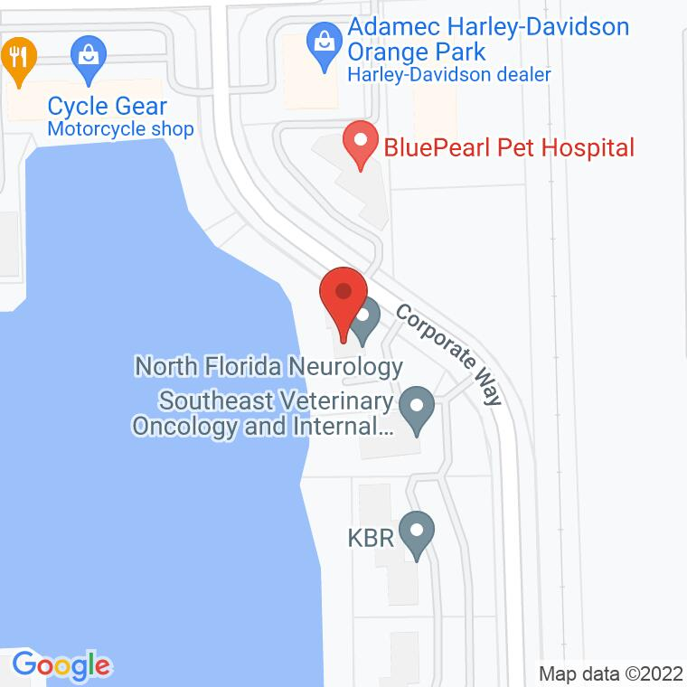 Google Map of 280 Corporate Way, Orange Park, FL, 32073