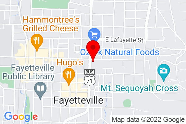 Google Map of 280 N College Ave, Fayetteville, AR