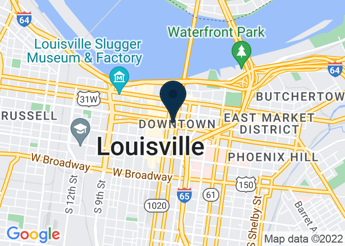 Map of 280 W Jefferson St, Louisville, KY 40202, Louisville, KY 40202, United States