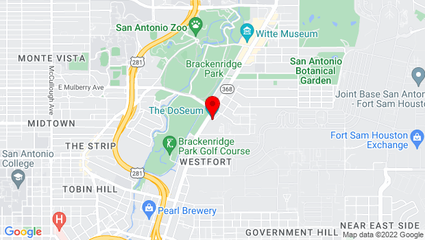 Google Map of 2800 Broadway, San Antonio, TX 78209