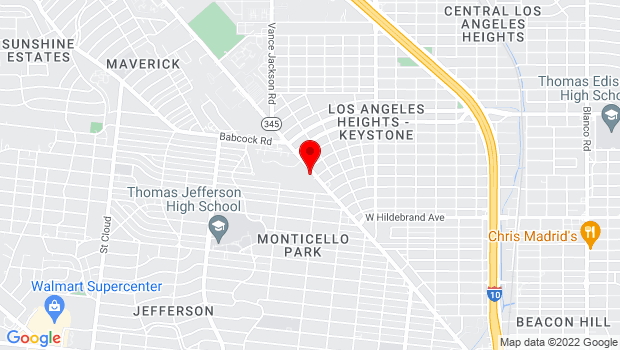 Google Map of 2803 Fredericksburg Rd., San Antonio, TX 78201