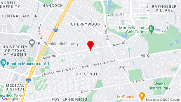 Google Map of 2803 Manor Road, Austin, TX 78722