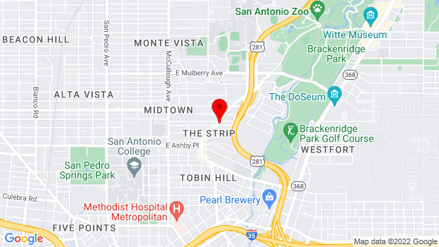 Google Map of 2806 N St Mary's St., San Antonio, TX 78212