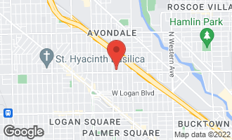 Map of 2814 North Richmond Street CHICAGO, IL 60618
