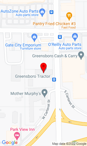 Google Map of Greensboro Tractor 2820 S Elm-Eugene Street, Greensboro, NC, 27406