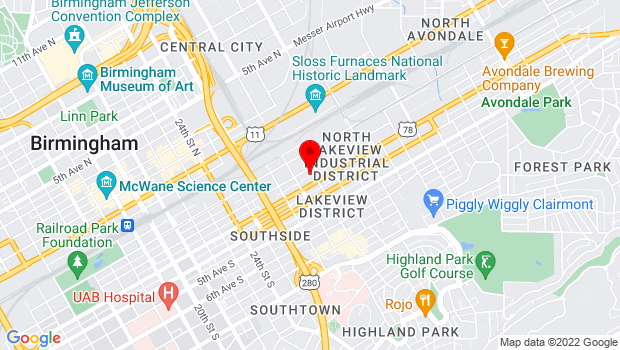 Google Map of 2821 2nd Ave S. Suite A-1, Birmingham, AL 35233