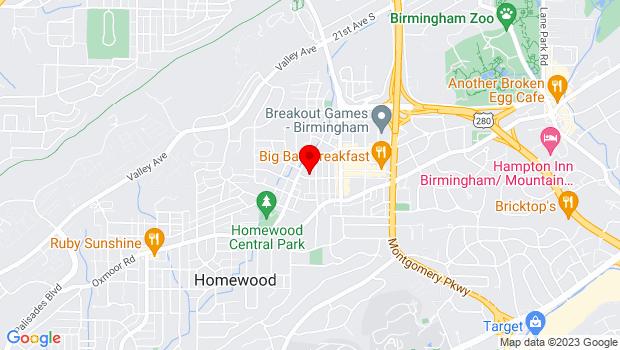 Google Map of 2823 Central Ave, Birmingham, AL 35209