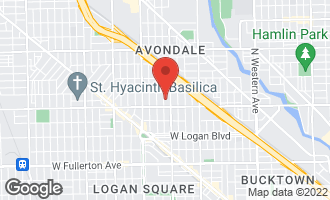 Map of 2825 North Whipple Street CHICAGO, IL 60618