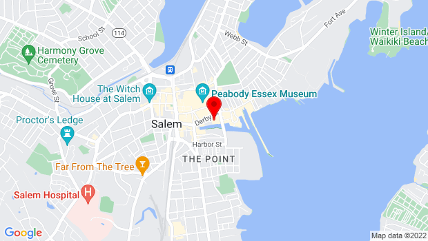 Google Map of 283 Derby Street, Salem, MA 01970