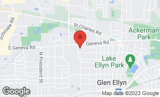 Map of 283 Elm Street GLEN ELLYN, IL 60137