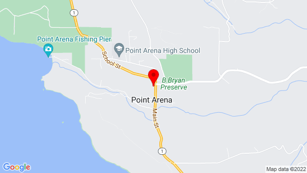 Google Map of 284 Main Street, Point Arena, CA 95468