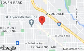 Map of 2846 North Christiana Avenue #3 CHICAGO, IL 60618