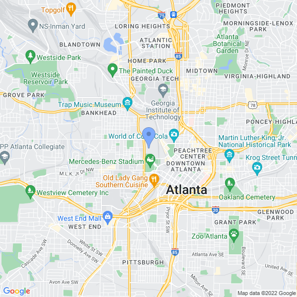 Heroes and Villains Fan Fest Atlanta Map