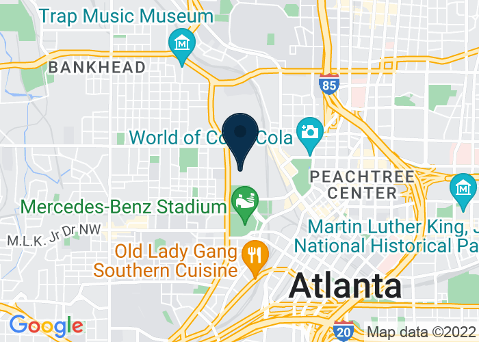 Map of 285 Andrew Young International Drive, Atlanta, GA 30313, United States