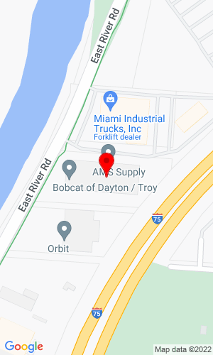 Google Map of Bobcat of Dayton 2850 East River Road, Dayton, OH, 45439