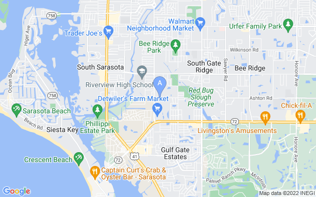 2858 Ashton Rd Sarasota Florida 34231 locatior map