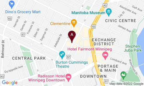 map of EXCHANGE DISTRICT PHARMACY
