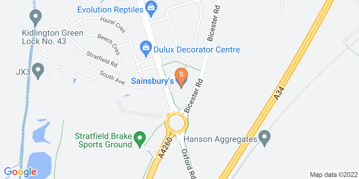 Google Map of 289 Oxford Road Kidlington OX5 2PE