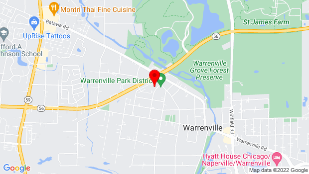 Google Map of 28w701 Stafford Place, Warrenville, IL 60555